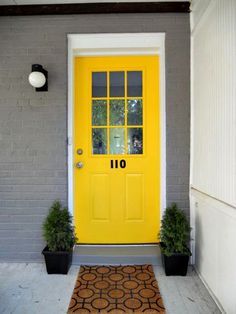 love the color of this front door.  So happy!