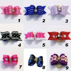 Hair Bows on Alligator Clip and French Clip for hairy dogslike Shih Tzus Yorkies and Poodles dog hair accessories Bee Happy Dog bow
