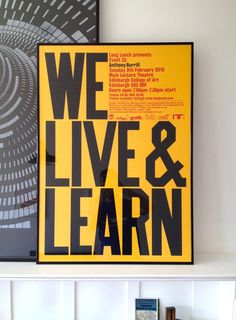 We live & learn