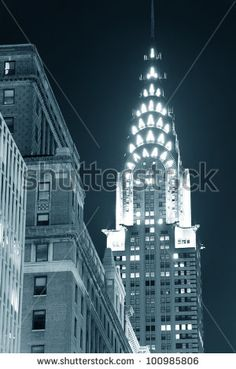 New York City, Ny, Usa - Dec 30: Chrysler Building At Night With Street On December 30, 2011, New York City. It Was Designed By Architect William Van Alena As Art Deco Architecture In Us. Stock Photo 100985806 : Shutterstock