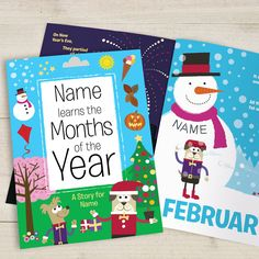 teach kids the months of the year with this charming months of the year book christmas