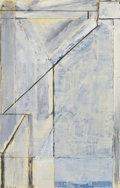 RICHARD DIEBENKORN 1922 - 1993 UNTITLED signed with initials and dated 74, gouache, graphite, ink wash and charcoal on joined paper, 17 by 11 in. Executed in 1974.