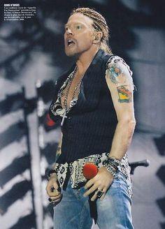 Axl Rose of Guns N' Roses, 2006