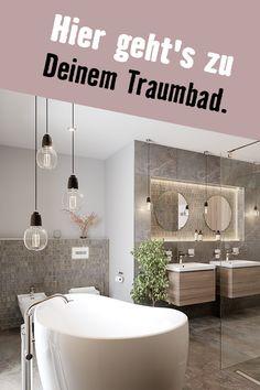 Hol Dir das Spa-Erlebnis nach Hause. Mit dem Wallis-Komplettbad. Wallis, Spa, Bathtub, Bathroom, Porcelain Tiles, Guest Toilet, Flooring Tiles, Tub, Remodels