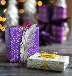 Plum & Gold Gift Wrap for Your New Year's Gifts