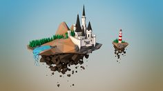 Low Poly Flying Kingdom on Behance