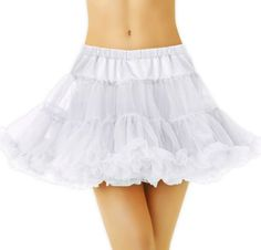 White Tulle Petticoat for Women - Party City