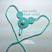 Baby Mickey Ears Barefoot Sandals - Free Crochet Pattern