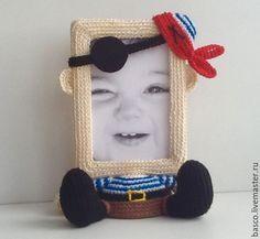 Купить Фоторамка для мальчика Пират - комбинированный, в полоску, фоторамка, рамка, рамочка, для фото, для детей, для мальчика