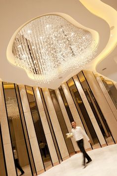 Foyer area outside the Ballroom at Pullman Hotel G Bangkok, Thailand… Lobby Interior, Interior Architecture, Interior And Exterior, Lobby Design, Ceiling Design, Wall Design, Ballroom Design, Function Room, Wall Finishes