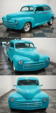 1947 Ford Tudor sedan custom [cool restomod] Custom Cars For Sale, Boyd Coddington, Teal Paint, Braided Line, Air Ride, Aluminum Radiator, Bucket Seats, Center Console