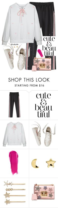 """""""💕"""" by gabyidc ❤ liked on Polyvore featuring WALL, NARS Cosmetics, Erica Weiner, Tasha and Gucci"""