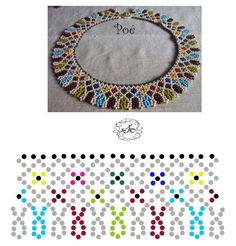 Diy Necklace Patterns, Beaded Jewelry Patterns, Beading Patterns Free, Beading Tutorials, Bead Crafts, Jewelry Crafts, Handmade Beads, Bead Crochet, Loom Beading