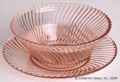 Pink Diana Bowls Depression Glass Vintage