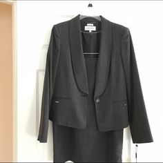 Calvin Klein Suit -- never worn; still has tags‼️ Business suit with the skirt to the knee, small slit in back of skirt. Fully lined. 🌷 Calvin Klein Other