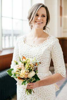 Modest wedding dress from Alta Moda.