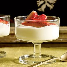 Lavender-Scented Strawberries with Honey Cream   MyRecipes.com