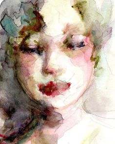 Summers Face Giclee Print 8x10  From Original Watercolor Painting