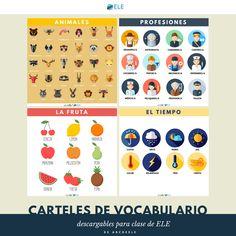 ¿Tienes ya todos los carteles de vocabulario para descargar?  Aquí tienes los PDF: http://www.eleinternacional.com/carteles-de-vocabulario/  ¿Qué otras temáticas te gustarían?