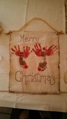Hand/Foot Print Reindeer