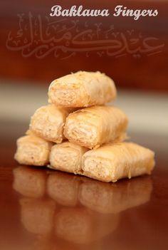Baklawa Fingers, Ballourieh aux pistaches et sélection de recette pour l'Aïd