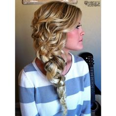 Hair and Makeup by Steph / Fancy braid ❤ liked on Polyvore
