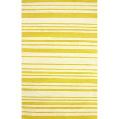 nuLOOM Hand-tufted Modern Stripes Yellow New Zealand Wool Rug (5' x 8')