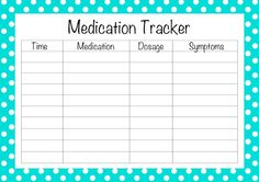 The Nest Effect Free Printable Medication Tracker Organize With