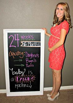 Put together a chalkboard pregnancy tracker. | 31 DIY Projects That Will Make Pregnancy So Much Easier