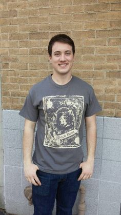 Men's T-shirt gray- Short sleeve - spring style fashion @ Black Bear Trading Asheville N.C.