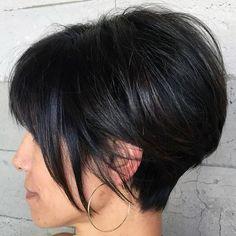 Bob Hairstyles Brunette, Brunette Bangs, Choppy Bob Hairstyles, Easy Hairstyles, Brunette Pixie, Casual Hairstyles, Pixie Haircuts, Medium Hairstyles, Latest Hairstyles