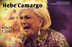 Apresentadora Hebe Camargo morre, aos 83 anos, em São Paulo | Ícone absoluto da TV brasileira, a apresentadora Hebe Camargo morreu na madrugada deste sábado (29), após sofrer uma parada cardiorespiratória em sua casa, no Morumbi, em São Paulo (SP). Ela estava com 83 anos e lutava contra um câncer no peritônio, descoberto em 2010. http://mmanchete.blogspot.com.br/2012/09/apresentadora-hebe-camargo-morre-aos-83.html
