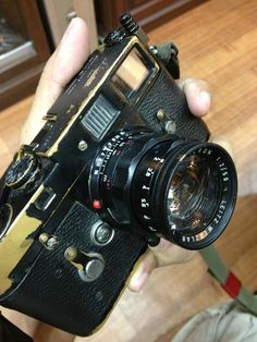Leica m2 and summicron black paint