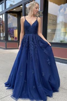 Dark blue lace tulle long prom dress dark blue bridesmaid dress can find Formal gowns and more on our website.Dark blue lace tulle long prom dress dark blue b. Blue Lace Prom Dress, Dark Blue Bridesmaid Dresses, Pretty Prom Dresses, Dress Prom, Prom Dresses Long Modest, Navy Prom Dresses, Dark Blue Dresses, Long Prom Gowns, Long Fancy Dresses