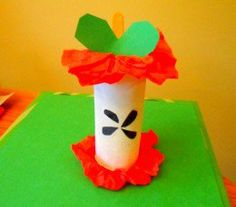 Our finished toilet paper roll apple core.