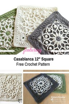 Lovely 12 Square With Overlay Crochet To Create The Effect [Free Pattern] - Knit And Crochet Daily Lovely 12 Square With Overlay Crochet To Create The Effect [Free Pattern] - Knit And Crochet Daily Motifs Granny Square, Crochet Motifs, Granny Square Crochet Pattern, Crochet Blocks, Crochet Stitches Patterns, Knitting Patterns, Knit Crochet, Free Crochet Square, Crochet Quilt