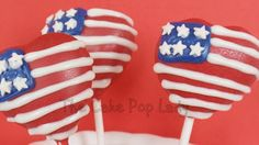 red white and blue fourth of july flag cakepops