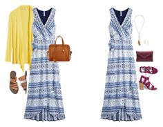 love the v-neck and the crisscross skirt...fun take on the maxi!
