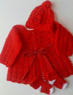 Conjunto crochê 0 a 6 mêses