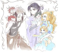 Curufin babysits his little twin brothers. Meanwhile, the children of Fingolfin form a perfectly behaved family. xD