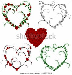 Flower and vine hearts - raster by John David Bigl III, via Shutterstock