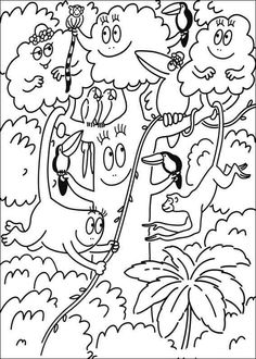 coloring page Barbapapa on Kids-n-Fun. At Kids-n-Fun you will always find the nicest coloring pages first! Tree Coloring Page, Cool Coloring Pages, Coloring Books, Girl Birthday, Printables, Cartoon, Prints, Girly Girls, Illustrations