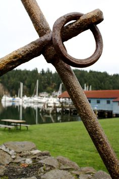 Part of the anchor at Skansie Park in Gig Harbor.
