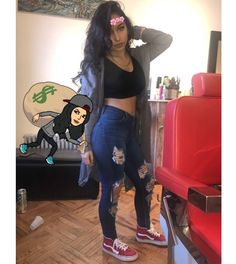 @norest4thewickd | queen muñoz Twin Outfits, Dope Outfits, Fashion Outfits, Womens Fashion, Siangie Twins, Outfit Goals, Fashion Killa, Swagg, Dress To Impress