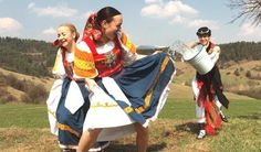 Slovak traditional Easter celebration. Young men throw water on all young female relatives