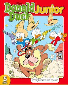 Proefabonnement: 40x Donald Duck Junior (complete serie) € 74,-: Donald Duck Junior is het jongere broertje van Donald Duck. Het blad is bestemd voor kinderen van 6 tot 7 jaar die net zijn begonnen met (leren) lezen.