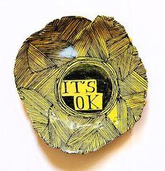 IT'S OK - yellow - plate - Ruan Hoffman