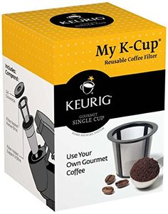 Keurig My KCup Reusable Coffee Filter  Gray -- Click image for more details. (This is an affiliate link)