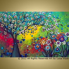 whimsical flower paintings - Google Search