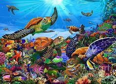 Gerald Newton - Amazing Undersea Turtles